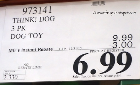 Think! Dog Flappers 3-Pack Dog Toys Costco Price