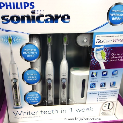 Philips Sonicare FlexCare White Toothbrush 2-Pack Costco