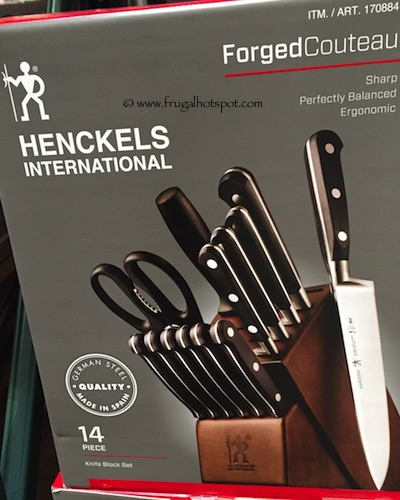 Costco Sale: J.A. Henckels 14-Pc Forged Cutlery Set with Block $129.99