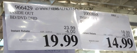 Inside Out Costco Movies Price