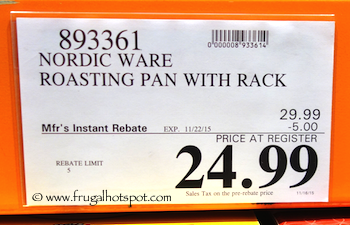 Nordic Ware Extra Large Roasting Pan with Rack Costco Price