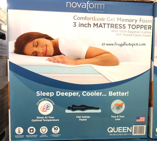 Costco Novaform Comfortluxe Gel Memory Foam 3 Mattress Topper