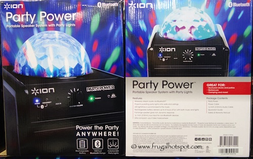 Ion Party Power Wireless Portable Speaker System with Party Lights Costco