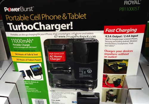 Royal PowerBurst Portable Cell Phone and Tablet TurboCharger Costco