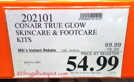 Conair True Glow Skincare and Footcare Kits Costco Price | Frugal Hotspot