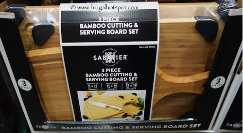 Sabatier 3-Pc Bamboo Cutting and Serving Board Set Costco