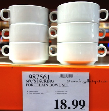 Stacking Porcelain Bowls 6-Piece Costco Price