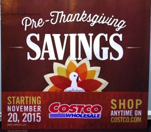 Costco Pre-Thanksgiving Savings Coupon Book: November 20-30, 2015
