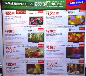 Costco Pre-Thanksgiving Savings Coupon Book: November 20-30, 2015. Page 1.