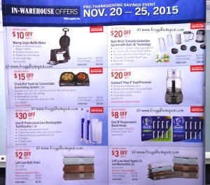 Costco Pre-Thanksgiving Savings Coupon Book: November 20-30, 2015. Page 11