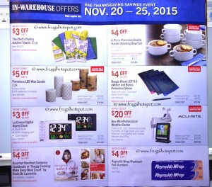 Costco Pre-Thanksgiving Savings Coupon Book: November 20-30, 2015. Page 12