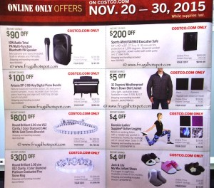 Costco Pre-Thanksgiving Savings Coupon Book: November 20-30, 2015. Page 19