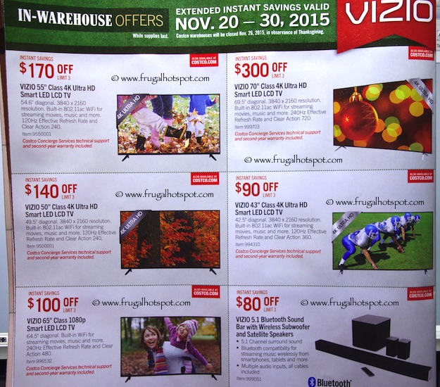 Costco Pre-Thanksgiving Savings Coupon Book: November 20