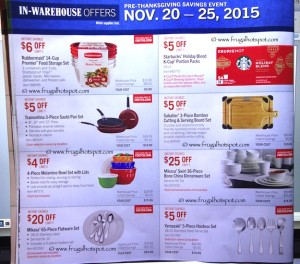 Costco Pre-Thanksgiving Savings Coupon Book: November 20-30, 2015. Page 7