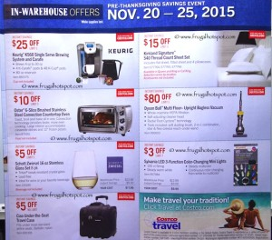 Costco Pre-Thanksgiving Savings Coupon Book: November 20-30, 2015. Page 8