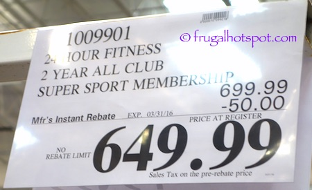 24 Hour Fitness 2-Year All-Club Super-Sport Membership Costco Price | Frugal Hotspot