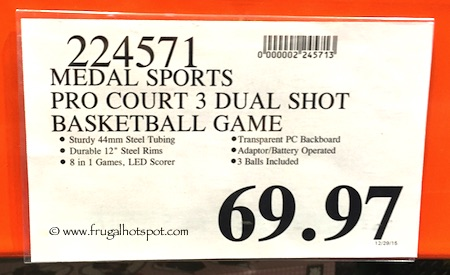 Medal Sports Pro Court 3 Basketball Game Costco Price