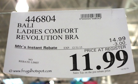 Bali Comfort Revolution Wirefree Bra Costco Price