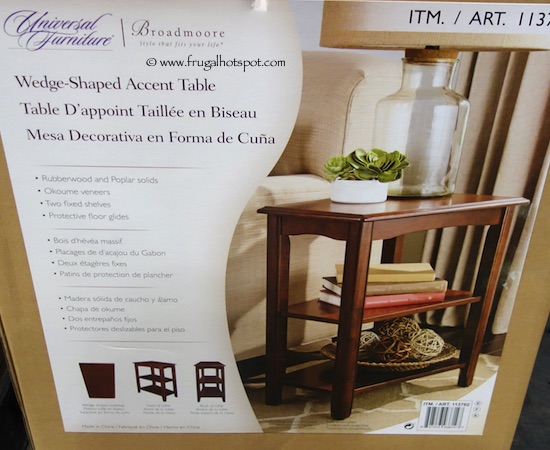 Universal Furniture Broadmoore Wedge-Shaped Accent Table Costco