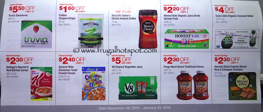 Costco Coupon Book: December 29, 2015 - January 24, 2016. Prices Listed. Frugal Hotspot. Page 11