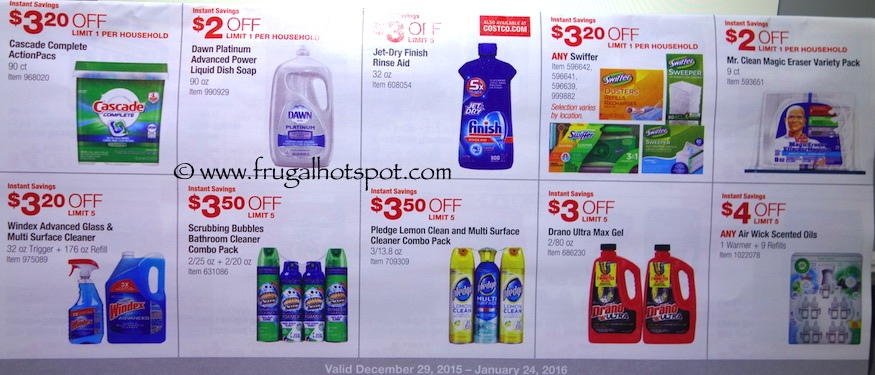Costco Coupon Book: December 29, 2015 - January 24, 2016. Prices Listed. Frugal Hotspot. Page 13