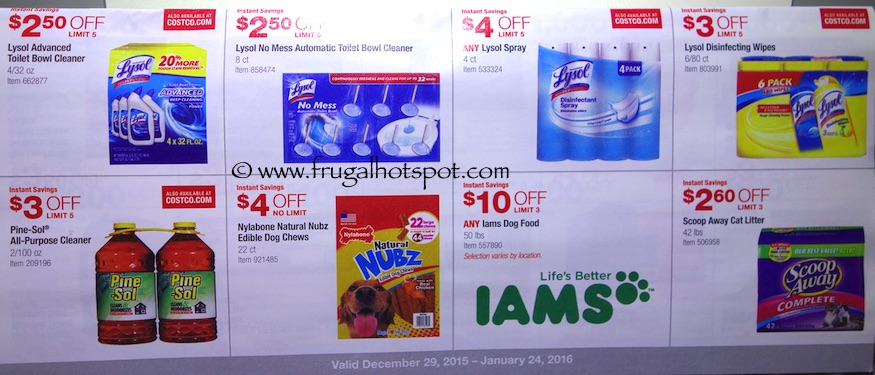 Costco Coupon Book: December 29, 2015 - January 24, 2016. Prices Listed. Frugal Hotspot. Page 15