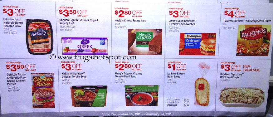 Costco Coupon Book: December 29, 2015 - January 24, 2016. Prices Listed. Frugal Hotspot. Page 16