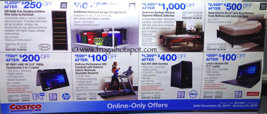 Costco Coupon Book: December 29, 2015 - January 24, 2016. Prices Listed. Frugal Hotspot. Page 17