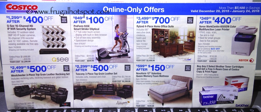 Costco Coupon Book: December 29, 2015 - January 24, 2016. Prices Listed. Frugal Hotspot. Page 18