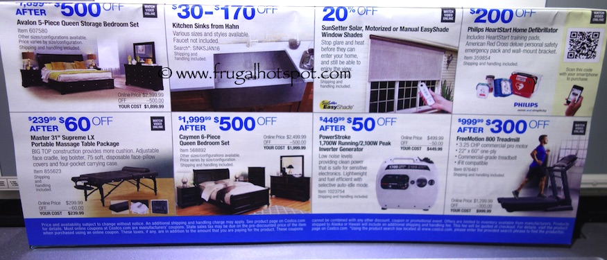 Costco Coupon Book: December 29, 2015 - January 24, 2016. Prices Listed. Frugal Hotspot. Page 19