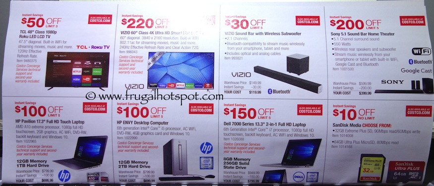 Costco Coupon Book: December 29, 2015 - January 24, 2016. Prices Listed. Frugal Hotspot. Page 2