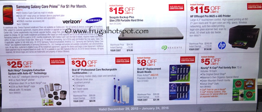 Costco Coupon Book: December 29, 2015 - January 24, 2016. Prices Listed. Frugal Hotspot. Page 3