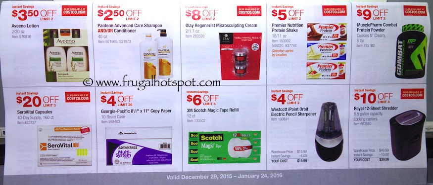 Costco Coupon Book: December 29, 2015 - January 24, 2016. Prices Listed. Frugal Hotspot. Page 5