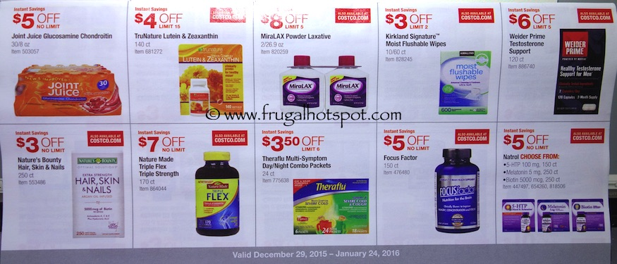 Costco Coupon Book: December 29, 2015 - January 24, 2016. Prices Listed. Frugal Hotspot. Page 7