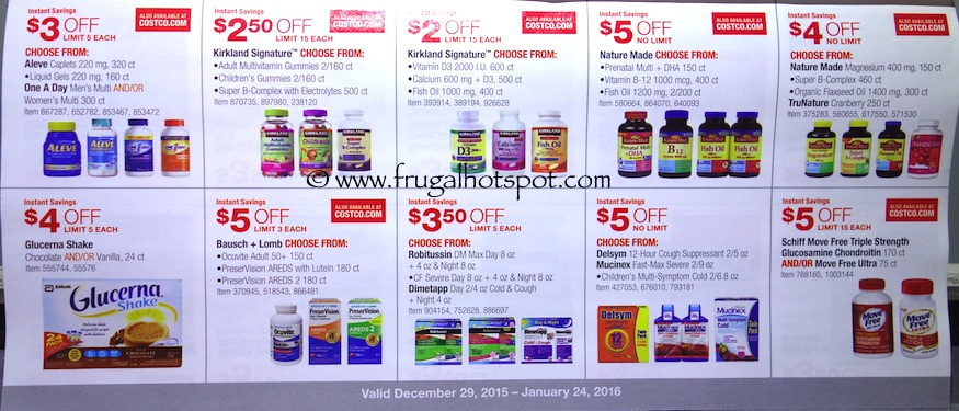 Costco Coupon Book: December 29, 2015 - January 24, 2016. Prices Listed. Frugal Hotspot. Page 9
