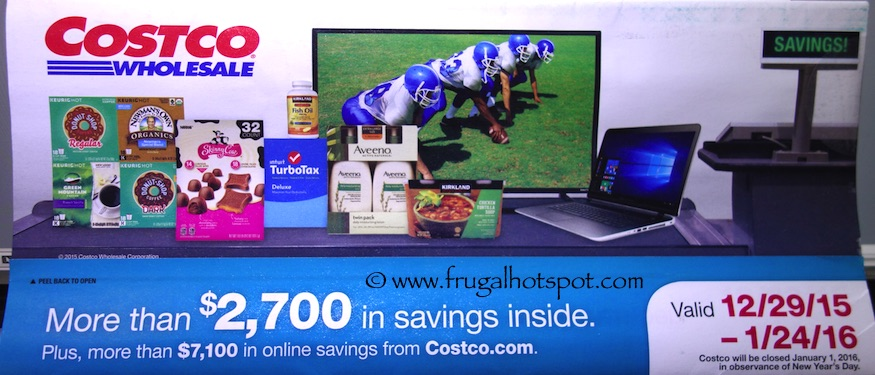 Costco Coupon Book: December 29, 2015 – January 24, 2016. Prices Listed.