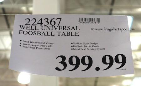 Well Universal Foosball Table Costco Price