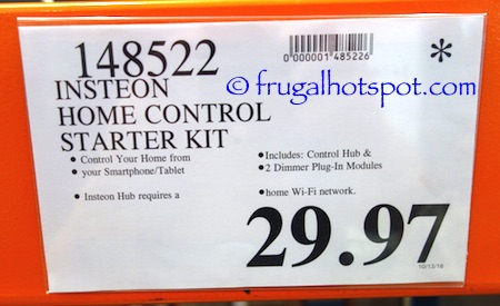 Insteon Home Control Starter Kit Costco Price \ Frugal Hotspot