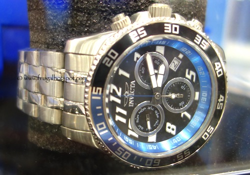 Invicta Pro Diver Mens Stainless Steel Black Chronograph Watch Costco