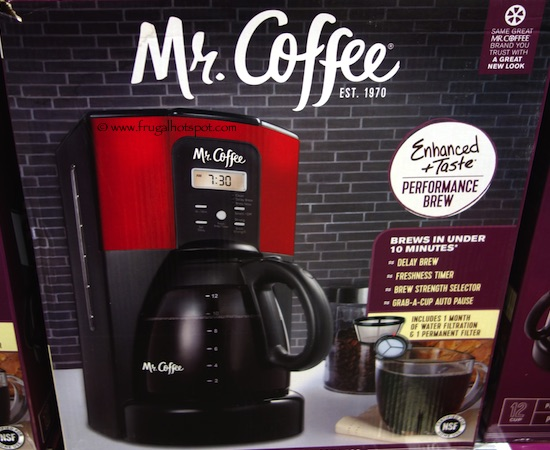 Mr. Coffee 12-Cup Coffee Maker Red Costco