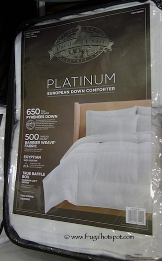 Pacific Coast Feather Pyrenees Down Comforter Queen/Full Size Costco