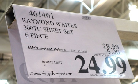Raymond Waites 300 Thread Count Sheet Set Costco Price