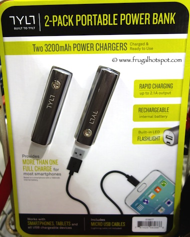 Tylt 3200mah Power Charger 2 Pack Power Bank Costco