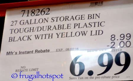 Incredible Solutions 27-Gallon Plastic Storage Bin with Lid Costco Price | Frugal Hotspot