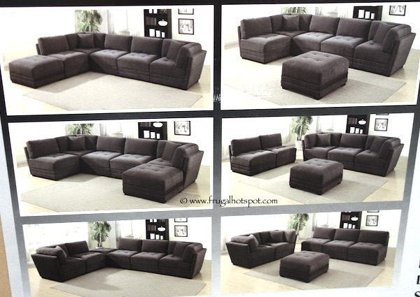 6-Piece Modular Fabric Sectional Costco : 7 piece modular sectional sofa - Sectionals, Sofas & Couches