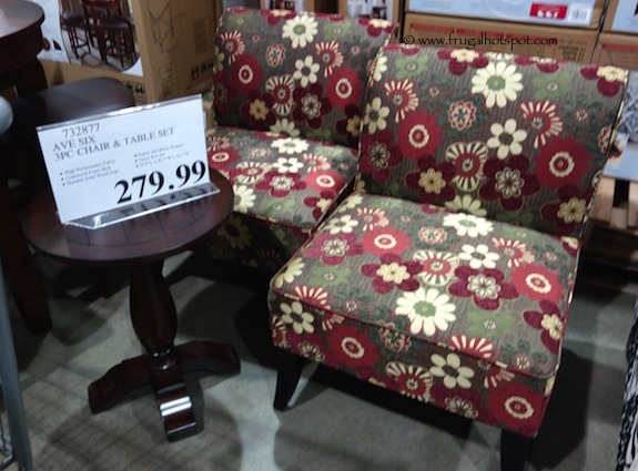 Avenue Six 3-Pc Chair & Accent Table Set Costco