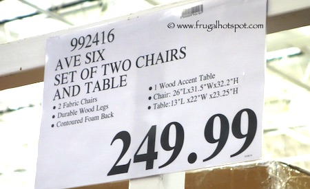Avenue Six 3 Piece Chair + Accent Table Set Costco Price