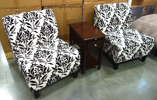 Avenue Six 3-Piece Chair + Accent Table Set Costco