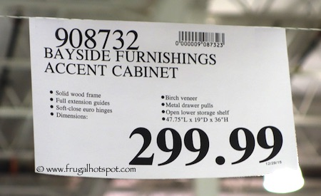 Bayside Furnishings Accent Cabinet Costco Price