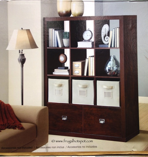 Costco Sale: Bayside Furnishings 9-Cube Room Divider with 2 Drawers $159.99